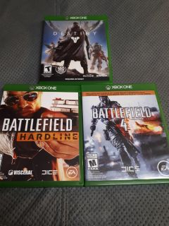 Mix of xbox one games