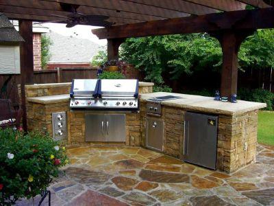 Outdoor kitchen in Arizona
