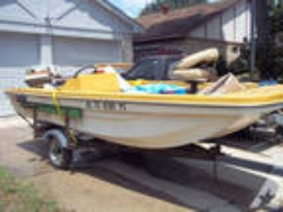 14ft. fiberglass boat,motor and trailer -