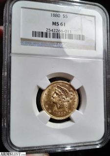 For Trade: 1880 $5 Gold Coin & 1913 $2.5 Gold Coin
