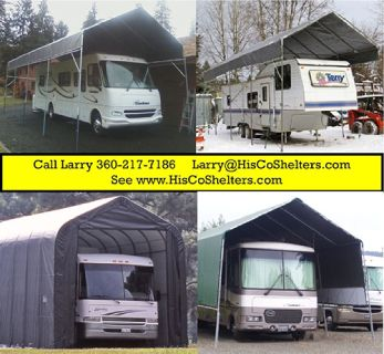 Portable Carport RV Shelter for less! 25' to 30' long