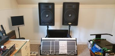 Gemini 15 inch pa speakers and 40 channel mixer