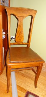 Wood chair with padded seat