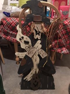 Halloween wooden stand up witch