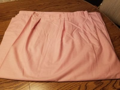 Excellent cond Blush colored pink cotton fabric shower curtain