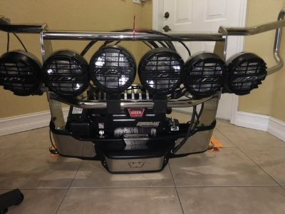 WARN WINCH 12,000 LB DUAL FORCE HD WITH HID BAR AND LIGHTS C