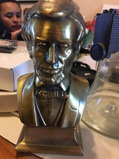 Vintage bust of Abraham Lincoln from the 1950 s