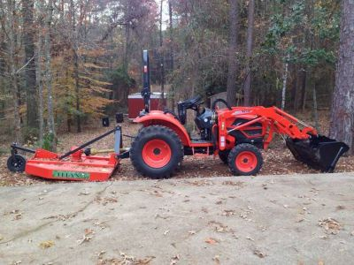 Kioti CK27 with equipment and trailer