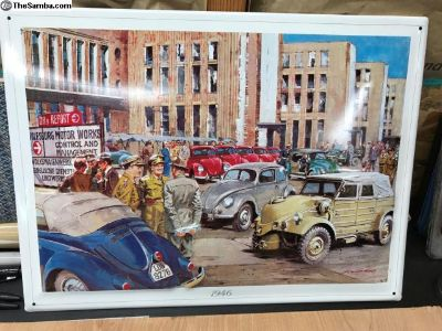 1946 Volkswagen Tin Poster/picture from factory