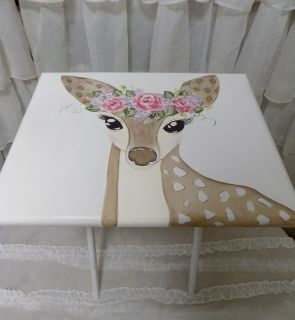 Boho Hand Painted Child's Tray Table