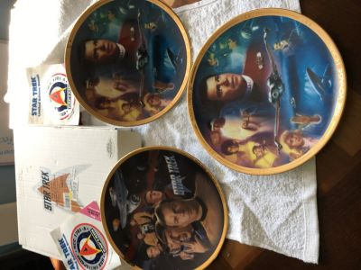 Star Trek collector plates