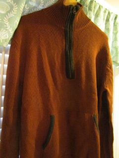 John Varvatos Men's XL Rust Sweater