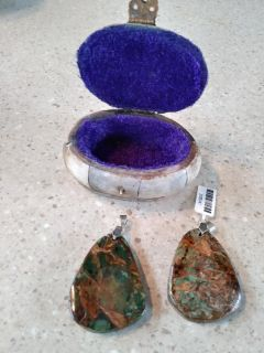 Hand crafted stone box and earthy pendands