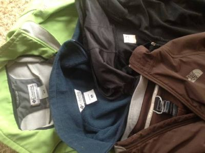 womens columbia and the north face jackets