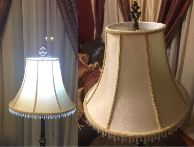 Vintage Custom Lampshade (Lamp & Finial not included)