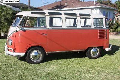 1961 Super Deluxe Sunroof Bus, CA OG Paint