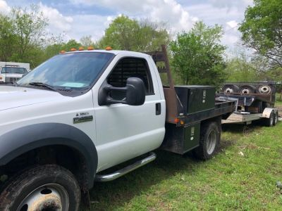 2006 Ford F450 Flatbed, V10 Gas, Texas Truck, Clean