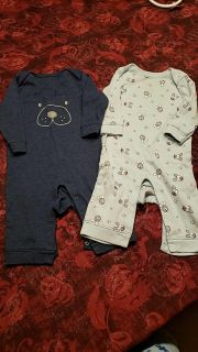 6-12m old navy puppy romper/sleepers