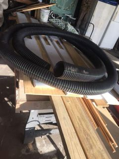 Landscaping drainage tubing roughly 20