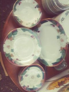 Beautiful Gold Rimmed Antique 27 piece set of China taking offers