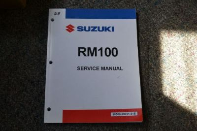 Purchase Suzuki RM100 Service Manual, 99500-20231-01E motorcycle in Granby, Massachusetts, United States, for US $25.00