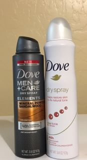 Dove Men and Women $7 for both!