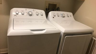 GE Deep Fill Washer and Dryer