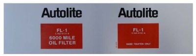 Purchase 1961 1962 1963 1964 1965 Lincoln Autolite FL-1 Oil Filter Decal motorcycle in San Diego, California, United States, for US $6.00