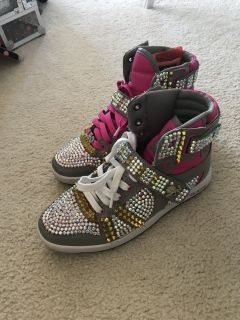 size 7.5 AvanteVlado Swarovski Crystal Hip Hop Shoes