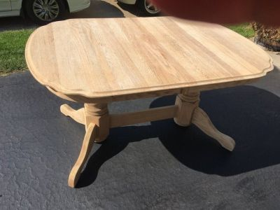 Unfished table ready for stain or paint