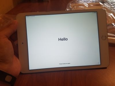 iPad mini 4 never used - factory reset with case