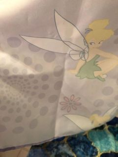 Tinker bell Shower curtain and purple jewel shower curtain rings