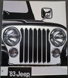Buy 1983 Jeep Full Line AMC Sales Brochure CJ Scrambler Pickup Cherokee Wagoneer motorcycle in Holts Summit, Missouri, United States, for US $22.68