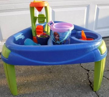 Small Sand / Water Table with Toys