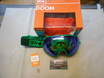 Buy Spy Doom Snowmobile Goggle Elemental Green BRZw/GRNSPEC+YELCONT 313073171373 motorcycle in North Adams, Massachusetts, United States, for US $139.95