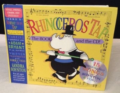 NEW Book & CD Childrens Rhinoceros Tap: 15 Seriously Silly Songs Hard Cover