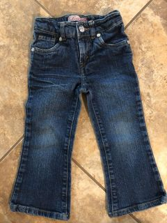 Levi s Great Back Pockets Blue Jeans With Adjustable Elastic. Size 2T