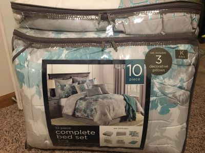 Brand new king size complete bed set(10 piece)