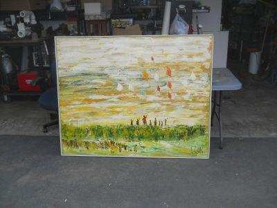 Lee Renolds Kite Runner painting/original,signed