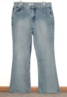 Juniors 13 Long Canyon River Blue Boot Cut Stone Wash Jeans 13L 32 x 32