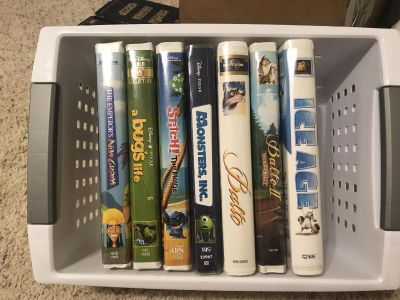 Movies VHS .50 each or all for $3