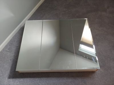 Large mirrored medicine cabinet