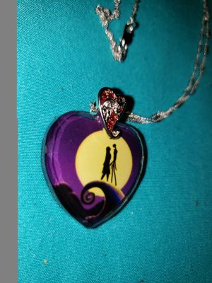 Nightmare before christmas crystal pendant