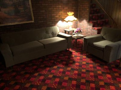 MCM Mid Century Modern Sofa and Side Chair