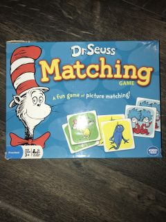 Dr. Seuss memory match game. All pieces accounted for.
