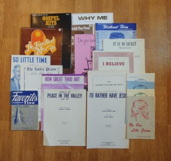 Collection of Vintage Gospel/Religious Sheet Music