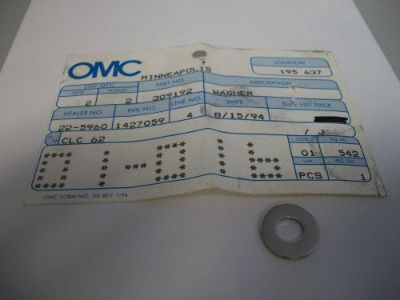 Find NOS OEM OMC JOHNSON EVINRUDE WASHER 309192 0309192 motorcycle in Osage Beach, Missouri, United States, for US $10.98