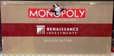 Monopoly Renaissance Investments Board Game