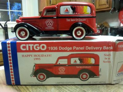 Citgo 1936 Dodge Panel Delivery Truck Metal Bank