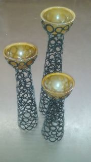 """Kirkland's 3 PC Candle Holders 21"""", 18"""" & 14"""""""